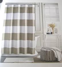 amazon com caro home fabric shower curtain wide navy blue white