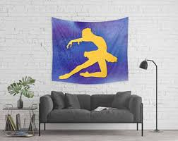 Blue And Yellow Home Decor by Yellow Wall Tapestry Etsy