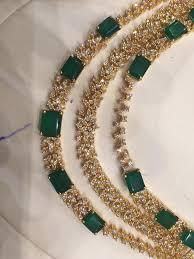 emerald necklace sets images Cz emerald necklace jpg