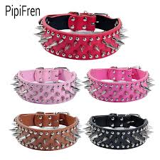 dog necklace leather images Pipifren spiked big dogs collars accessories belt supplies for a jpg
