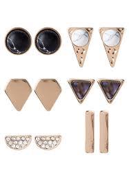 aldo earrings aldo bags clearance aldo gwossa 6 pack earrings black women