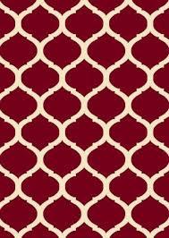 arlington collection red contemporary moroccan trellis design