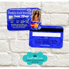 quinceanera party invitations credit card quinceanera invitations sweet 16th invitations
