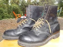 s boots usa 70 s usa union made black leather safety boots s
