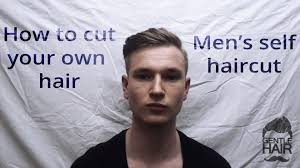 how to give yourself a haircut how to cut your own hair men s self haircut gentlehair youtube