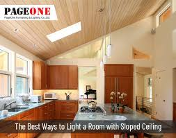 what is the best lighting for a sloped ceiling angled ceiling pendant light