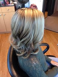 blonde streaks for greying hair highlights on light brown google search hair color pinterest