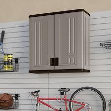 suncast wall storage cabinet platinum suncast 30 w x 30 1 4 h x 12 d platinum wall storage cabinet at