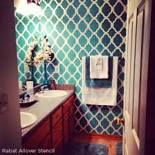 bathroom stencil ideas instagram your stenciled space cuttingedgestencils stencil