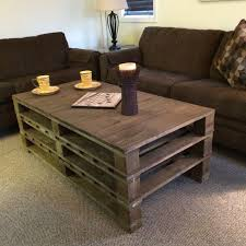 tables made from pallets coffee table pallet coffee table with metal legs diy tutorial