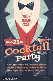 cocktail party poster stock vector 132371105 shutterstock