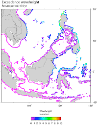 Map Southeast Asia by Probabilistic Tsunami Hazard Map For Southeast Asia Showing