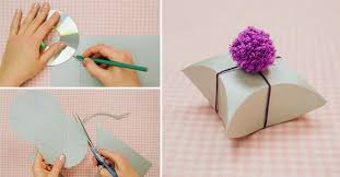 paper gift boxes wonderful diy easy square pillow paper gift box