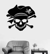 wall decals stickers home decor home furniture diy wall pirate skull stickers car window decal vinyl ocean beach wall sticker diy