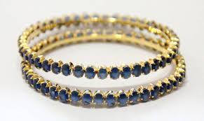 blue stone bracelet images Buy ink blue stone studded bangle online jpg