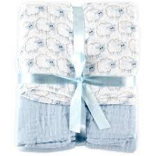 amazon com hudson baby 2 count muslin swaddle blanket blue baby
