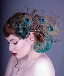 peacock headband absynth nymph peacock feather flapper headband by baroqueandroll