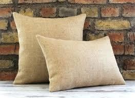 Burlap Decorative Pillows Burlap Pillow Covers U2013 Bazaraurorita Com