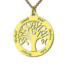 Personalized Necklaces For Moms Aliexpress Com Buy Gold Color Family Tree Necklace Engraved