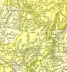 Map Of Idaho State by The Usgenweb Archives Digital Map Library Idaho Maps Index