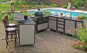 outdoor kitchen furniture pros and cons of different outdoor kitchen cabinets materials