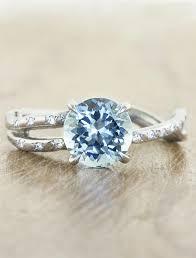 aquamarine and diamond ring melinda aquamarine sculptural split shank aquamarine ring ken