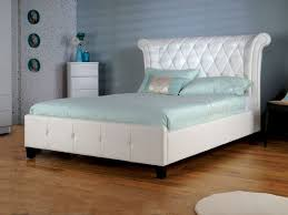 White Leather Bed Frame King Leather Bed Frame King Size Excellent White King Size Bed White