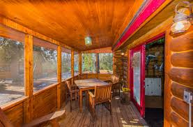 cabin porch 2 log lakefront retreats for sale in minnesota north wo