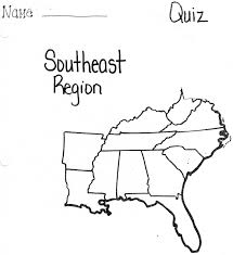 Southeast States And Capitals Map by Map Of Southeastern States Usa My Blog