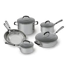 Calphalon Stainless Steel Toaster Simply Calphalon Stainless 10 Piece Cookware Set 7160035 Hsn