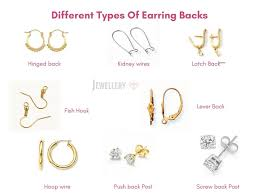 types of earring backs for pierced ears different types of earring backs tips to avoid losing earrings