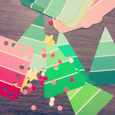 paint chip christmas tree craft for kids fun crafts u0026 projects