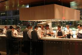 Cafeteria Kitchen Design Semi Open Kitchen Service Area Glass Partitions Design Show