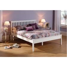 heather opal white bedframe