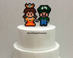 nerdy cake toppers cake topper mario and princess wedding cake topper