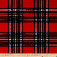 Red Plaid Upholstery Fabric Winter Fleece Stewart Plaid Red Discount Designer Fabric
