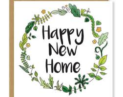 new home card etsy