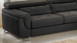 canapé d angle noir pas cher canapé d angle gauche cuir noir pas cher
