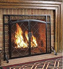 Baby Proof Fireplace Screen by Amazon Com Amagabeli Firplace Screen With Doors Flat Guard Fire