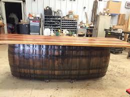 whiskey barrel bar table wyld at heart customs home