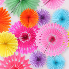 gift tissue paper 5pcs 20cm tissue paper fans pinwheels cut out paper hanging gift
