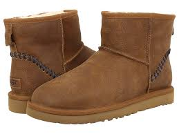 ugg boots sale york ugg ugg mini deco chestnut leather 1 s boots ugg