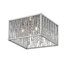 home decorators collection 4 light chrome flushmount 16648 the