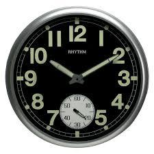 Silent Wall Clock Rhythm Glow In The Dark Silent Plastic Wall Clock