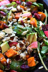 roasted sweet potato and rice salad chelsea s apron