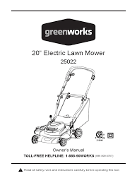 greenworks 25022 12 amp corded 20 inch electric lawn mower