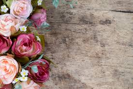 Flowers On - flowers on rustic wooden background copy space photo free