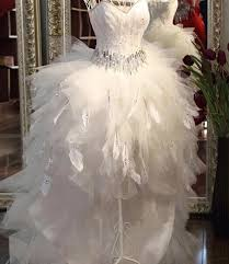feather wedding dress quality feather wedding dress front back bridal gowns