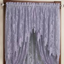 Swag Curtains With Valance Wisteria Arbor Lace Valances And Curtain Panels
