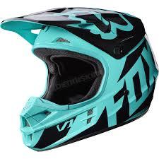 fly motocross helmet fox green v1 race helmet 17343 004 2x atv dirt bike snowmobile
